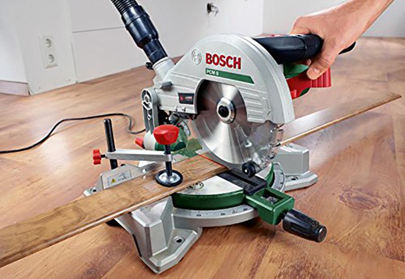 Bosch Scie stationnaire à onglets PCM 8, 1200 W, 0603B10000