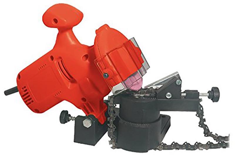 Racing RAC220ES Affuteur electrique de chaines de tronconneuses Rouge