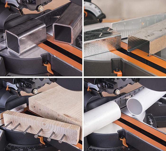 Evolution Power Tools - Scie à Onglets Coulissante Multi-Matériaux R210SMS+