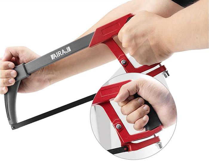 avis AIRAJ Cadre de scie à métaux haute tension de 300 mm avec 10 lames de scie remplaçables