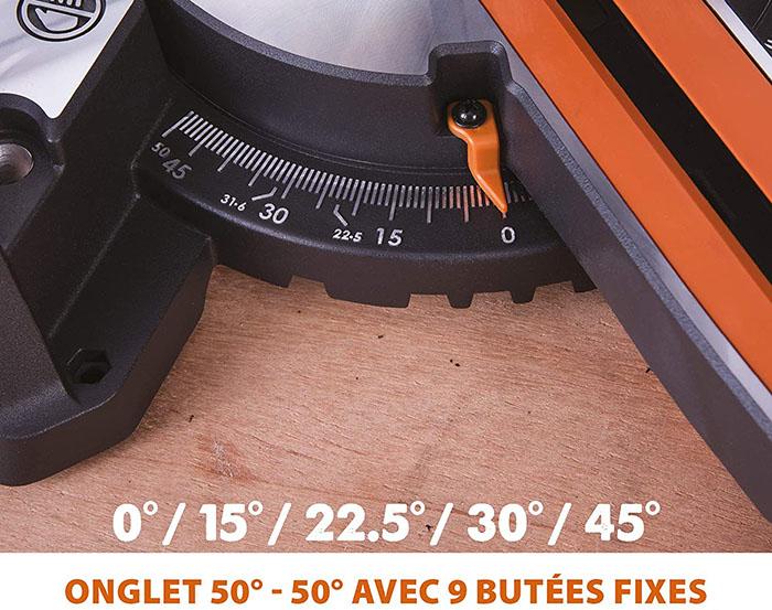 avis et test Evolution Power Tools - Scie à Onglets Coulissante Multi-Matériaux R210SMS+